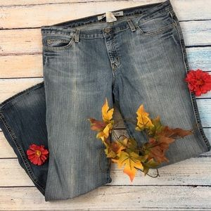 Destroyed Gap Ultra Low Rise Jeans